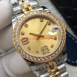 Gelbes Mosaik Rabatt Damen Hohe Qualität Uhr 31mm Gelb Vorwahlknopf  Datejust Diamantmosaikrand Asiat 2813 Bewegung
