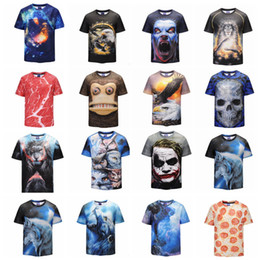Wholesale boys shirts designs - 21 design Student Mens 3d T-shirt animal galaxy Printing Mens T-Shirts Casual Fashion Men Short Sleeve T-shirt KKA4796