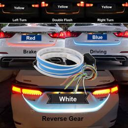 luces de la ciudad de honda Rebajas Envío gratis yentl 4 colores tipo de flujo LED del coche luz trasera tira de la luz de freno de conducción a su vez señal de señal de conducción Knight maletero