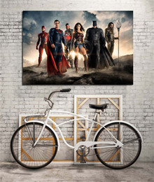 Wholesale Painting Oil Woman Animal - Superman VS Batman Wonder Woman,Justice League Canvas Oil Painting print Wall Art Decor for Living Room Home Decoration Framed Unframed