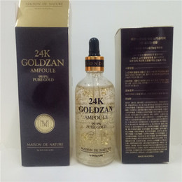 essenz make-up Rabatt Kostenlos an Kunden Make-up Primer Skinature 24k Goldzan Ampoule 24 K Gold Tagescreme Moisturizer Gold-Essenz Serum New Face Skin Care DHL