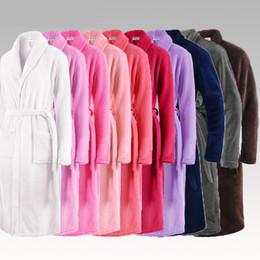 Argentina Amantes de la venta caliente Clásico Seda Suave Largo Albornoz Hombres Kimono Bata de baño Hombre Franela Vestido de Hotel de Lujo Coral túnicas cheap xl mens kimonos Suministro