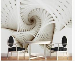 2019 designer-tapete modern Stereo moderne minimalistische abstrakte geometrische Grafik TV Hintergrund Tapeten Wohnkultur Designer rabatt designer-tapete modern