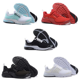 Wholesale Navy Black Shoes - Original 2018 Running Shoes Fine Mesh Breathable Presto Blackout Cheap Sneaker Red Navy Blue Triple White Black Fall Olive