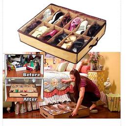 Wholesale storage boxes for underwear - 12 Grid Transparent Nonwovens Drawer Organizer Divider Storage Box For Underwear Shoes Socks Ties Home Storage & Organization