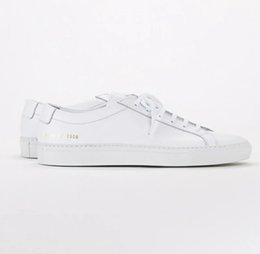 Argentina Proyectos comunes realizados por mujeres Negro blanco bajo top Zapatos Hombres Mujeres Cuero genuino Zapatos casuales pisos Chaussure Femme Homme cheap white leather tops Suministro