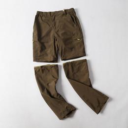 Trek green on-line-Mens treino sweatpants primavera verão fina quick dry calças de exercício juventude exército verde destacável calças trekking pantalones montana hombre