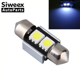 Super lumineux Blanc 31mm 2 5050 SMD LED Canbus Voiture Intérieur Dôme ampoules Carte Festoon Lumière Économie d'énergie Ampoules boîtier en aluminium ? partir de fabricateur