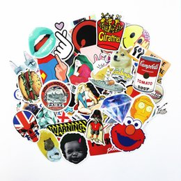 funny cases Coupons - 200PCS Pack Random music Skateboard Guitar Travel Case sticker colorful Car decal Cute Stickers fashion funny sticker
