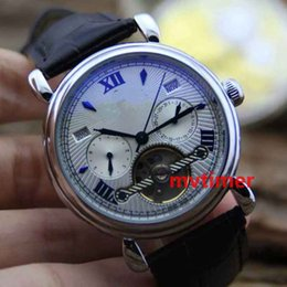 Wholesale Geneva Rubber - Automatic Mechanical geneva Watch Leather Strap Mens PP Luxury Brand Business Dress Aaa Designer Reloj Wristwatch Watches Men Rose Gold