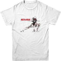 Metallo volpe online-T-Shirt Metal Gear Solid, Top grigio ispirato alla maglietta Fox Silver Fox