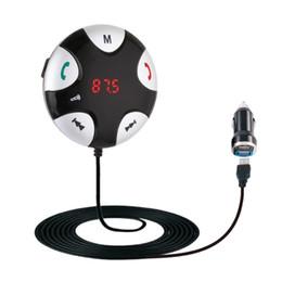 2019 автомобильный комплект громкой связи Автомобильный комплект беспроводной Bluetooth FM-передатчик MP3-плеер автомобильный комплект зарядное устройство для смартфона громкой связи Bluetooth скидка автомобильный комплект громкой связи