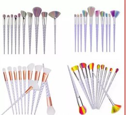 makeup factory cosmetics Coupons - Factory Direct DHL Free Unicorn Makeup Brushes 10PCS Makeup Brushes Tools Tech Professional Beauty Cosmetics Brushes Sets