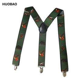 Wholesale Wholesale Suspenders For Men - 2017 New Men Adjustable 3.5cm Wide Heavy Duty Y-Back Hunters And Animals Suspenders For Mens