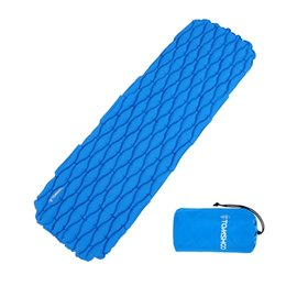 Wholesale Ultralight Hiking Backpack - TOMSHOO Ultralight Inflatable Sleeping Pad Mattress Outdoor Cushion Sleeping Bag Camping Mat for Outdoor Hiking Backpack Travel