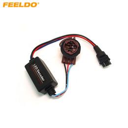 Resistor cancelador de erro on-line-FEELDO DC12V 3157A Erro de Aviso de Tomada de Sinal de Turno Canceller Cancellerer Carga Livre Resistor LED Decoder # 2266