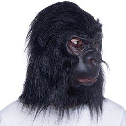 Macaco vestido on-line-Animal Adulto Chimpanzé / Macaco / Máscara de Macaco Máscara de Látex Fancy Dress Halloween Prop Máscara de Macaco