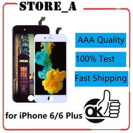 Canada AAA de haute qualité pour iPhone 6 6 Plus 6g 6+ écran LCD Digitizer Assemblée complète avec cadre Noir Blanc Vente Chaude Offre