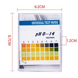ph kit de tiras reactivas litmus Rebajas Hot 100 Strips / Set 0-14 PH Test Kit Indicador de Ácido Alcalino Papel Saliva de Agua Litmus Tester Measurement Analysis Instruments