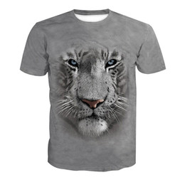 t shirts men full print Promo Codes - Men T-shirt Tiger Head 3D Full Print Man Casual Tops Unisex Short Sleeves Digital Graphic Tee Shirt Tees T-Shirts Blouse (RLT-4063)
