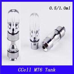 Wholesale glass cartomizer tanks - Vaporizer Pen Cartridges Atomizer MT6 Glass Cartomizer Electronic Cigarette 510 E Cigarette for E cig 0.5ml Tanks 0266165-1
