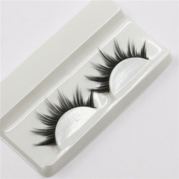 Wholesale Long Fake Eyelashes - Can Mix 16 style Handmade New Eyelash Under Eye Pads Black Long Thick CrossNatural Fake Eye Lashes Extension Women Makeup Beauty