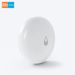 Wholesale water alarm detector - Xiaomi Mijia Aqara IP 67 Water Immersing Sensor Flood Water Leak Detector for Home Remote Alarm Security Soaking Sensor Phones
