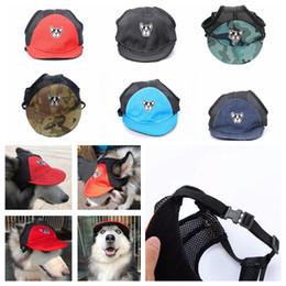 2019 pet visor 6 styles Chien Baseball Cap visière chapeau Été Respirant Pet  Plage Sun Bonnet 7f3d45952f3f