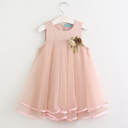 Wholesale Fancy Children - summer girls dress baby lace flower fancy skirts kids tutu skirt children beautiful dresses 2 colors for choose