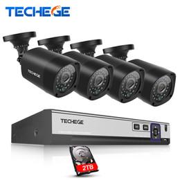 cctv sistemas dome exterior Desconto 4CH CCTV SISTEMA 4 K 48 V POE NVR 4MP POE Câmera IP 2592 * 1520 Câmera de Segurança Ao Ar Livre e-mail de alerta Sistema de Vigilância Em Casa