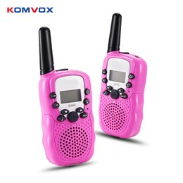 Wholesale Children Range - 2pcs lot Child Kids Walkie Talkie Electroinc Speelgoed Family Interactive Game Gadget Portable Telephone Talking Toy 5-8KM Range
