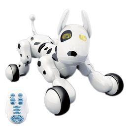 Juguetes inteligentes para perros online-Control remoto inalámbrico inteligente perro robot Wang Xing perro eléctrico educación temprana juguetes educativos para niños (Blanco)