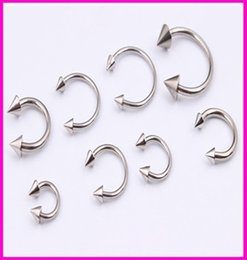 wholesale spikes studs jewelry NZ - OP-Basic Body Jewelry Mixed Sizes Steel Spike Horseshoe Circular Barbell Lip Rings Anti allergy type U Horseshoe Ring Ring Ring eyebrow lip