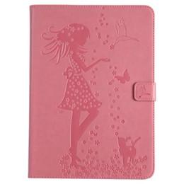 Para iPad mini123 PU protector de cuero de la muchacha encantadora cubierta protectora para Apple iPad Mini 1 2 3 cubierta elegante del caso pintado Stand Flip Shell + pluma desde fabricantes