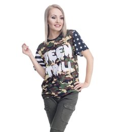 ba9b6b66 Women T-shirt Moro Been Trill Camouflage 3D Full Print Girl Free Size  Stretchy Casual Tops Lady Short Sleeves Tee Shirt Blouse (GL36373)