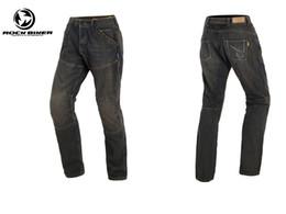 Wholesale Protection Trouser - ROCK BIKER Windproof knee upgrade protection kevlar pants motorcycle trousers spodnie motocyklowe straight loose type sports pants