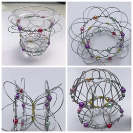 Wholesale Wholesale Wire Baskets - magic flower basket, change metal flower basket the wire ball change iron wire toy Magic Trick Iron Gadget Anti Stress Adult toy KKA4854