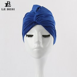 Wholesale Women Binder - LEBESI 2017 Sexy Binder Beach Quick Dry Pleated knot Swimming Cap For Women Girls Solid Color Elastic Bathing Hat Swimming Pool