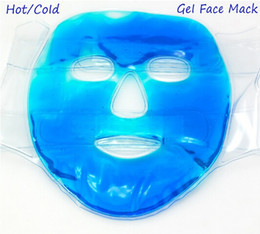 Wholesale massage tourmaline - Hot&Cold Facial Mask Women Gel Face Mask Tourmaline Treatments Soothing Massage Reusable Beauty Masks Ice Pack Face Care