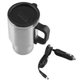 Appearanice Car Heating Cup Auto 12v Heating Cup Electric Kettle Cars Thermal Heater Cups Boiling Water bottel Auto Accessories 500ML+Cable