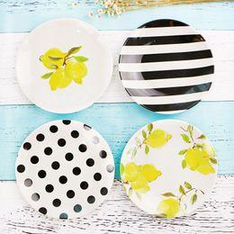 Melamine plate онлайн-6 дюймов круглый квадратный меламин тарелка блюдо для фруктовый торт кости Роза фламинго морской организм рождественский стол декор 4 шт. / лот DEC417