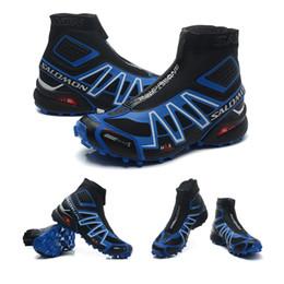 Wholesale cut snow - Salomon Men snow boots SENSE M Male Shoes Outdoor Jogging Sneakers Man Lace Up Athletic Shoes High Quality Fencing Shoes 40-46
