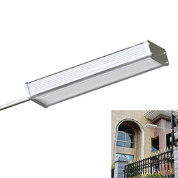 Wholesale microwave sensors - 4 Modes 48LED Microwave Radar Motion Sensor Solar Light 1000LM Waterproof Street Outdoor Wall Lamp Security Spot Lighting Path Lights
