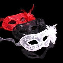 1 pc flor de encaje de moda pluma de encaje máscara de disfraces Masquerade Ball Costume Party Fancy Dress desde fabricantes