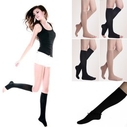 Wholesale black stockings nylons - Compression Socks for Men Open Closed Toe Socks Leg Support Stocking Women's Beauty Leg Shaper Compression Stocking FBA Drop Shipping G469Q