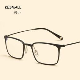 eac92248dc7 KESMALL Fashion Retro Glasses Frame Men Women Square Shaped Spectacle Frames  Myopia Eyeglasses Hot Sale Marco De Lentes XN730