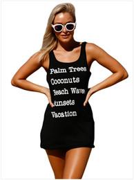 2019 débardeurs animaux Summer Beach Longs T-shirts pour femmes Casual Tees Vêtements Porter Lettres Imprimer Sans Manches Débardeurs Backless promotion débardeurs animaux