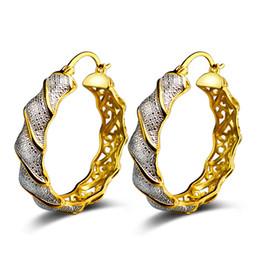 Wholesale Ear Accessories Piercings - JEXXI Luxury Gold Circle Carve Flower Hoop Earrings for Women Cool Piercing Ear Accessories Female Ear Accessories
