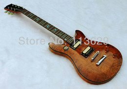 Wholesale Guitar Quilted Maple - Factory wholesale Double Cut Way Electric Guitar with Quilted Maple Top, Amber free shipping