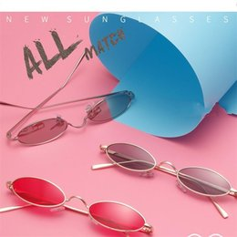 Wholesale nose smaller - Fashion Small Frame Unisex Sunglasses UV400 Reduce Eye Injury Sun Glasses Multicolor Lens Comfortable Nose Spectacles High Quality 13gf Y